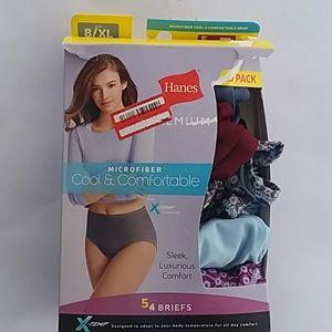 Girls Hanes 5-pack microfiber 8 / XL underwear